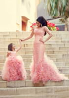 Trumpet/Mermaid Full/Long Sleeve Court Train Lace Evening Dress With Appliqued