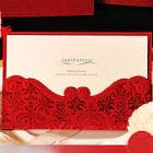 Bride & Groom Style Wrap & Pocket Invitation Cards 30 Piece/Set
