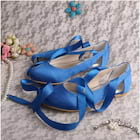 Women's Satin With Ribbon Tie Close Toe Flats Wedding Shoes