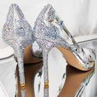 Women's Sparkling Glitter PVC Pumps Heels Fashion Shoes