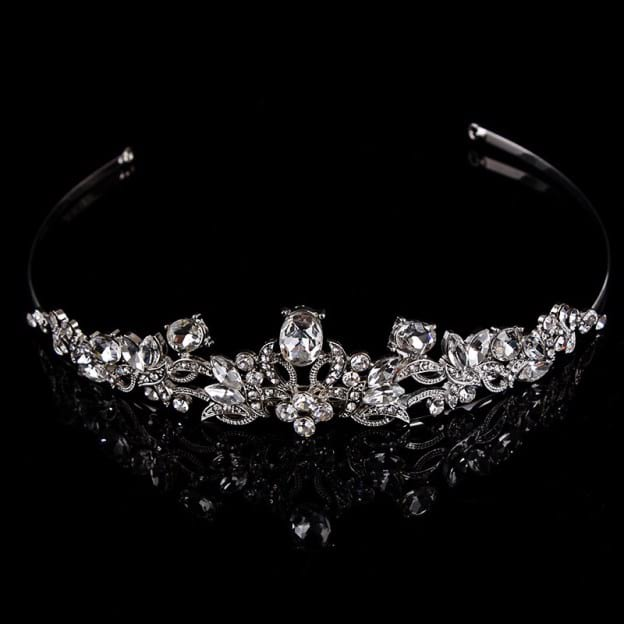 Alloy Ladies Tiaras With Rhinestone Crystal