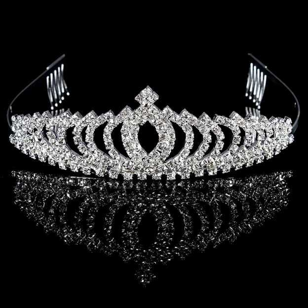 Alloy Ladies Tiaras With Rhinestone