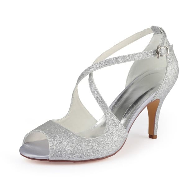 Sandals Stiletto Heel Satin Wedding Shoes