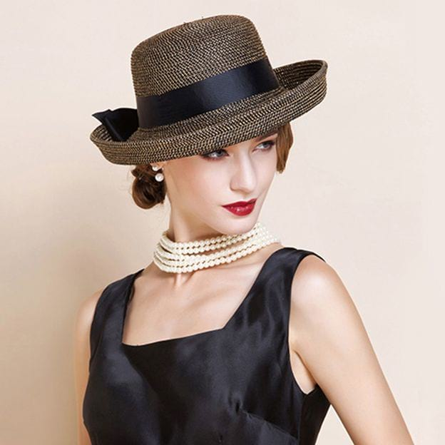Ladies' Glamourous/Elegant Rattan Straw Straw Hats/Beach/Sun Hats With Bowknot