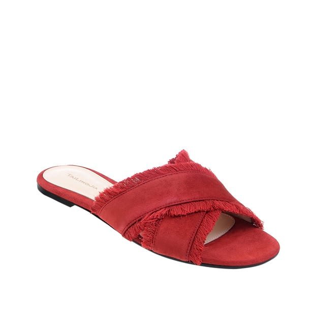 Women's Suede With Tassel Flats Flip Flops Shoes