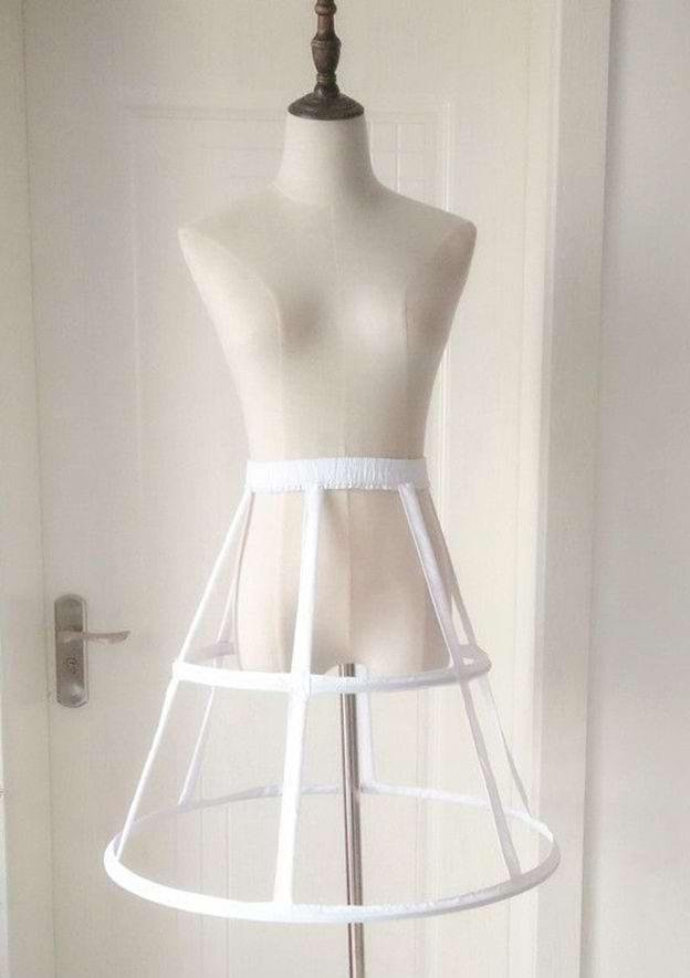 Women Cloth Knee-length 1 Tier Bridal Petticoats