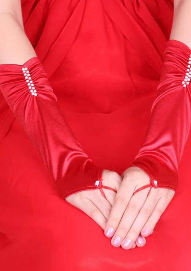 Spandex Elbow Length Bridal Gloves