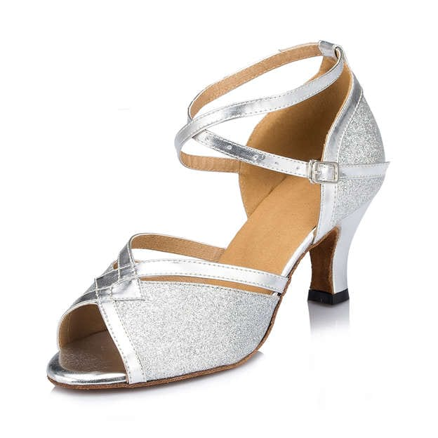 Women's PU/Sparkling Glitter With Buckle Heels Dance Shoes
