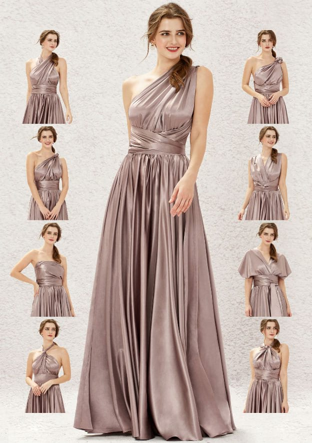Style-Your-Way 12 Tie Bridesmaid Dress Convertible Style M19237B