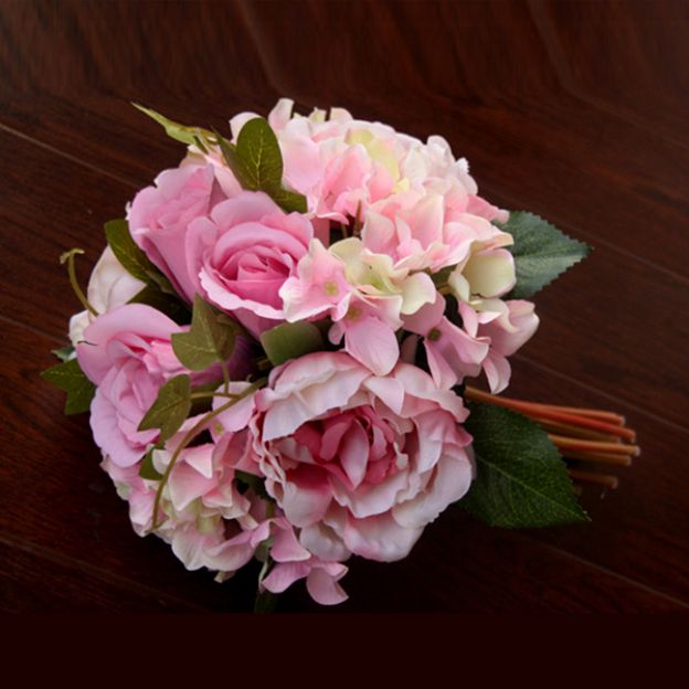 Hand-Tied Fabric Peonies Bouquets