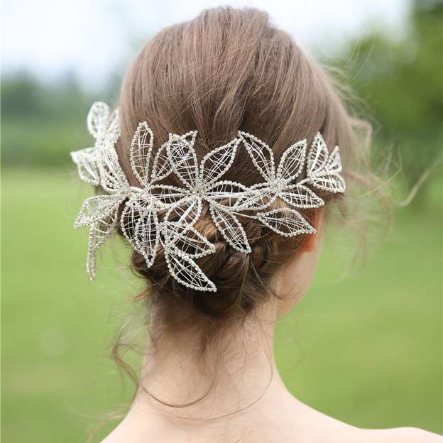 Ladies Beautiful/Elegant Alloy With Flower/Rhinestone Headbands