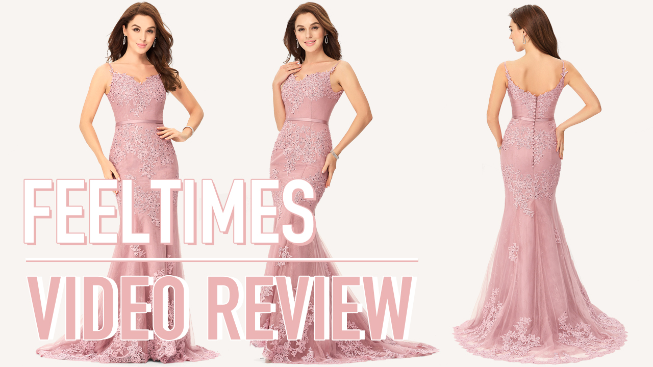 Prom Dress M19272P丨Trumpet/Mermaid Tulle Nude Prom Dress With Lace Beading - FeelTimes